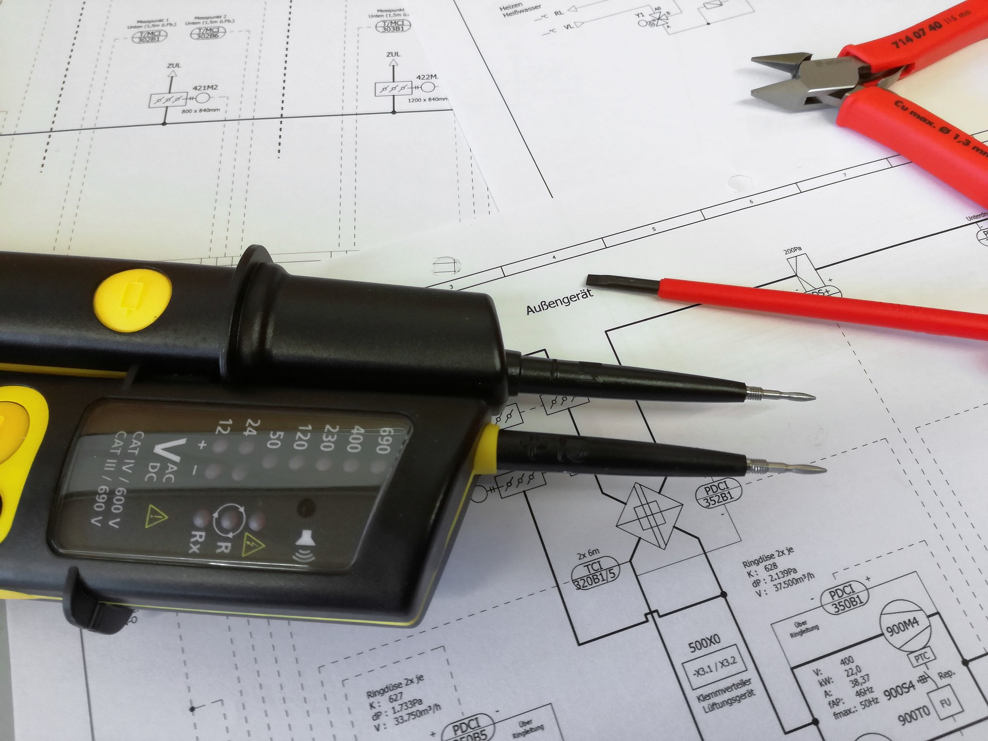 we provide the initial electrical design and plans for your business premises
